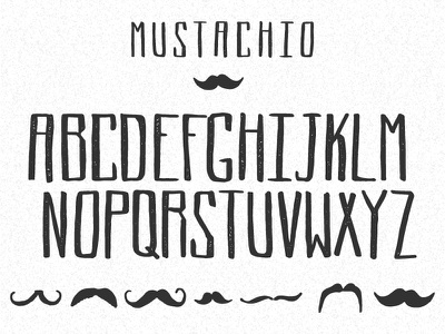MUSTACHIO font mustachio mustache hand letter hand drawn typography type font