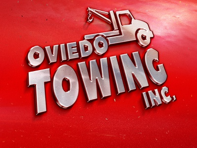 Oviedo Towing Inc. logo typography florida logo oviedo towing