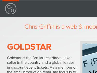 chrisgriffin.org: WIP web portfolio