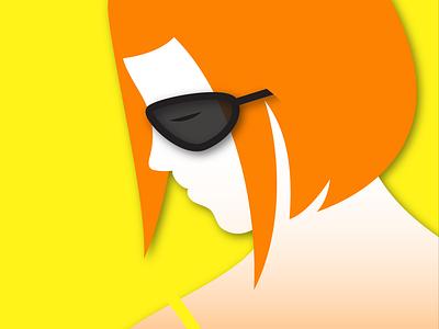 Summer Muse redhead ginger summer sun muse illustration