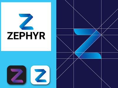 zephyr logo symbol company apps z zelda identity unique logo modern logo creative logo business logo purple blue z logo logo font logo lettermarklogo business design brand branding