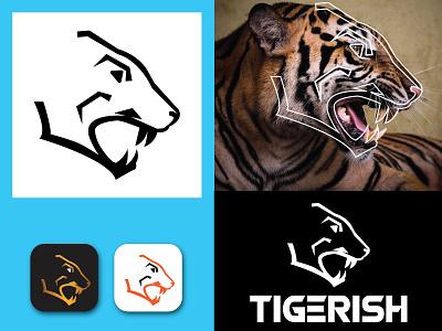 Tigerish Minimalist logo power black gradient minimal minimalist design minimalist logo mimimal logo minimalist tiger logo tiger creative logo illustration company business logo design apps branding business logo brand