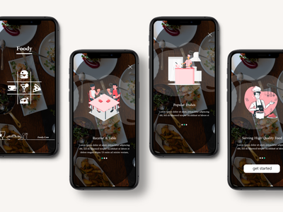 foody app ui design for restaurants part-1 apparel apple application app design app ui design design website design web design landing page design illustration landing page landing design adobe xd adobexd
