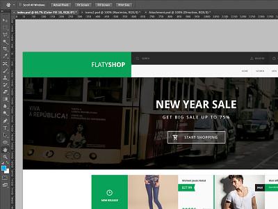 FlatyShop (WIP) wordpress web design design shop flat wip
