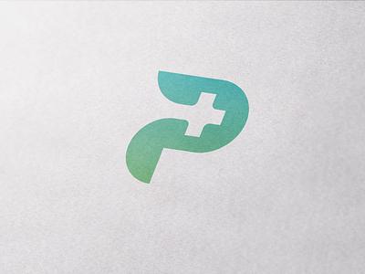 Letter P branding medical health logotype
