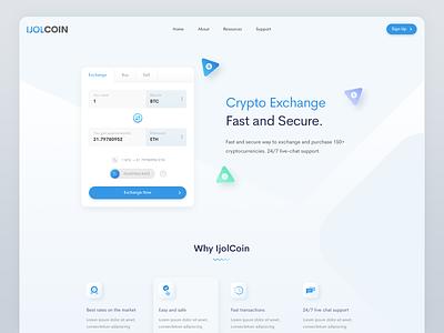Crypto Exchange design web design crypto swap exchange
