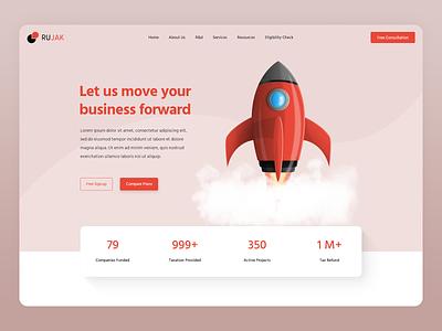 Rujak Taxation tax clean business design web design