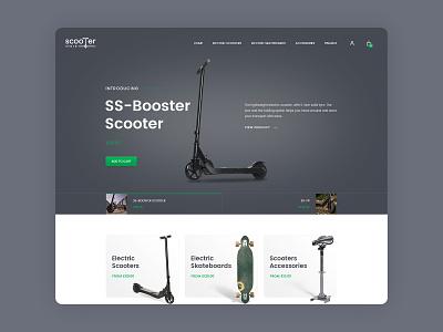 Scooter shop business online shop shop ecommerce design clean web design