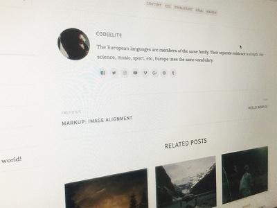 Personal Blog Theme blog personal wip