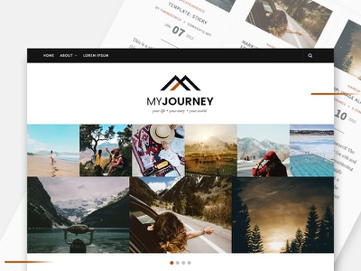 My Journey, Blogging Wordpress Theme (WIP) work in progress personal blog wordpress