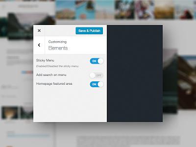 My Journey, Theme Customizer (WIP) customizer work in progress personal blog wordpress