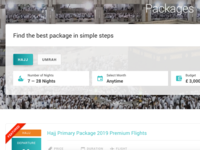 Travel package filter