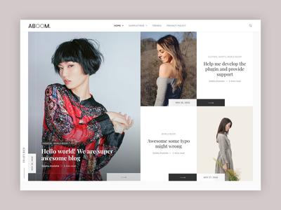 Aboom Wordpress Theme