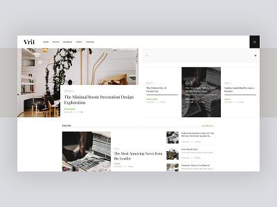 Vrit Magazine screenshot blog design clean web design