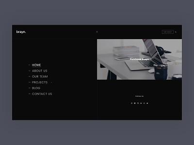 Brayn responsive portfolio business clean web design wordpress