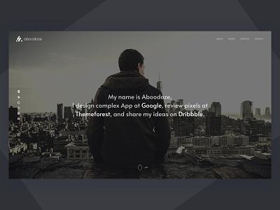 Aboodoze responsive clean portfolio template one page design web design