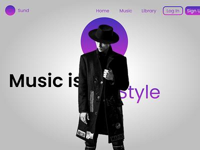 Sund music ui design figma