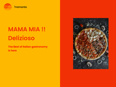 Tramonto italian food pizza design ui figma