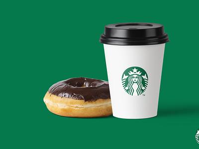 Starbucks Ad donut ad artboard studio starbucks coffee