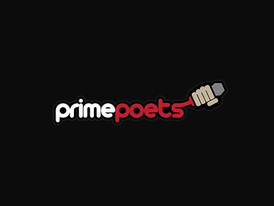 Primepoets logo poetry open mic