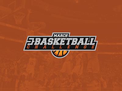 March B-Ball Logo sports logo basketball