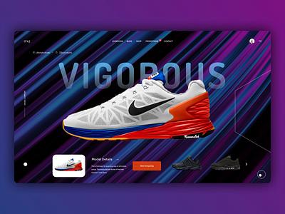 Shoes Web Design graphic design branding illustrator web ux minimal website ui typography design