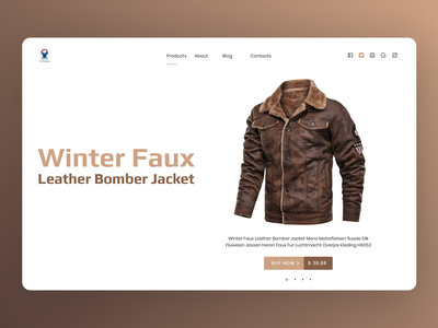 Jacket Web Design clean graphic design illustrator web ux minimal website ui typography design