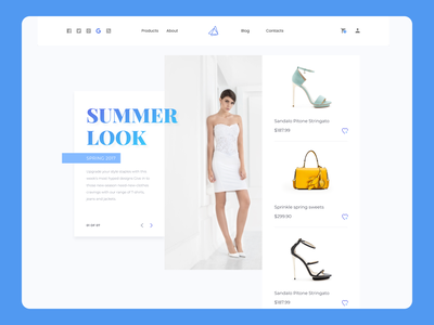 Summer Style Web clean graphic design branding web ux minimal website ui typography design