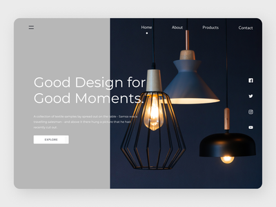 Home Decor Landing Page web ux minimal website ui typography design