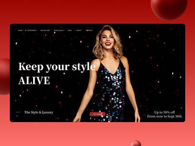 Fashion Landing Page 3fashionlandingpage 3fashionlandingpage website minimal web ui typography illustration branding art ux design