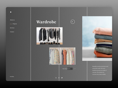 Wrdrobe Concept graphic design illustrator website minimal web typography branding ui ux design
