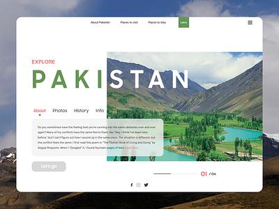 Explore Pakistan Web Design clean graphic design website illustrator minimal web typography ui ux design