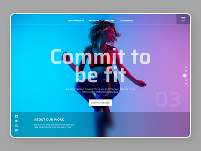 Fitness Landing Page illustrator website minimal web branding typography ui ux design