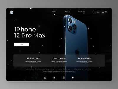 iPhone Web Design minimal website web branding typography ui ux design