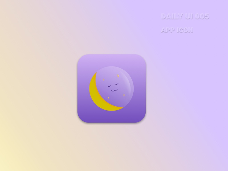 Daily UI #005 - App Icon appicon sleep app sleep vector illustration figma app ux ui design dailyui005 dailyuichallenge 005 dailyui