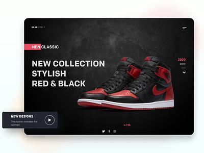 Shoes landing Page abstract ux order ui design modern minimalist branding
