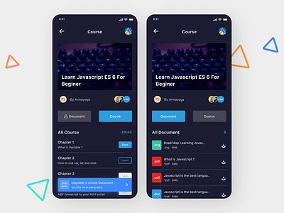 Online Learning App modern design app ui