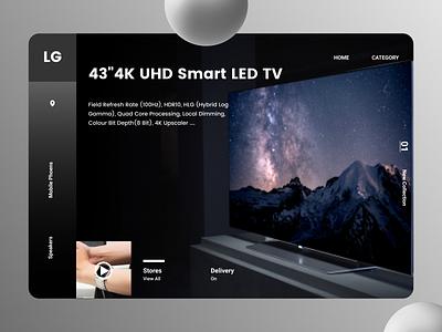 Electronics Web Design online new typography minimalist flat order branding design ui modern