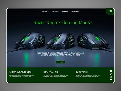 Gaming Mouse's app design new typography online minimalist order branding design ui modern