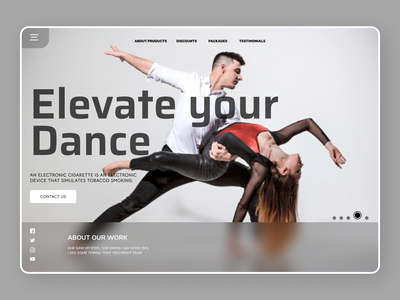 Dance Trainer abstract art online new minimalist order branding design ui modern