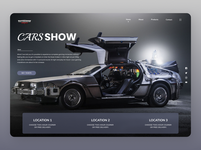 Cars Show online shop typography online new modern minimalist order branding design ui