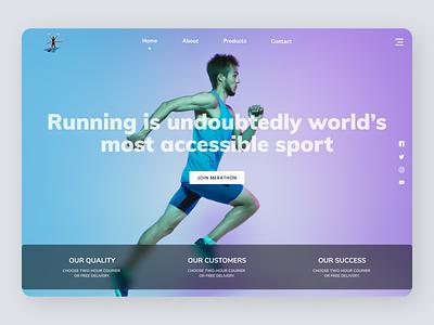 Fitness Coach art minimalist typography new online order branding design modern ui