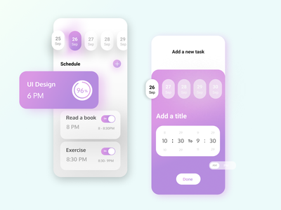 Habits tracker App minimal web app design