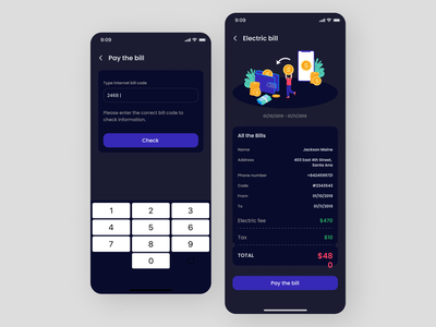 Bill Payment App animation icon ui ux design app