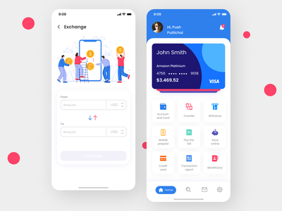 Modify Design Cards managment App design ui ux minimal design app