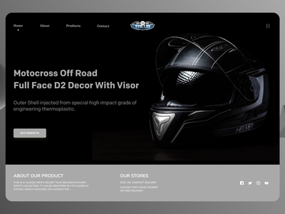 Bike Accessories online negative space branding new designs web ui ux minimal design