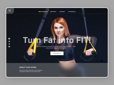 Fitness Trainer Web Design fitness center ui design uiux fitness minimal online new designs branding web ui ux design