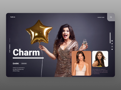 Party Planner Landing Page uiux new year online branding minimal new designs web ui ux design