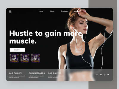 Fitness  Trainer branding fitness uiux design online new designs web ui ux