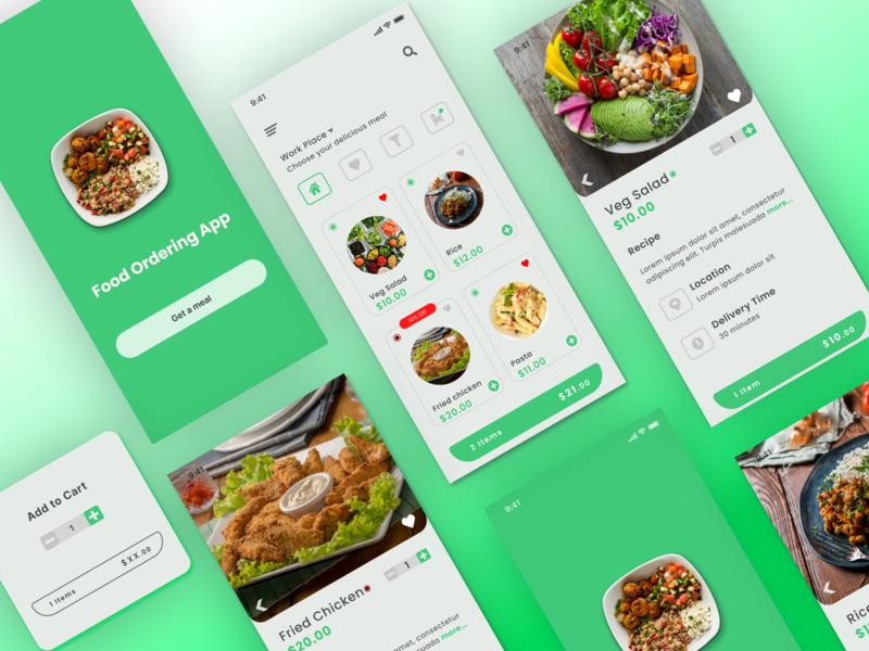 Food Ordering App food order app food app figma ui